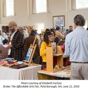 Photo by Elisabeth Fuchsia of Community Arts Event, Broke: The Affordable Arts Fair, Peterborough, NH, June 11, 2016